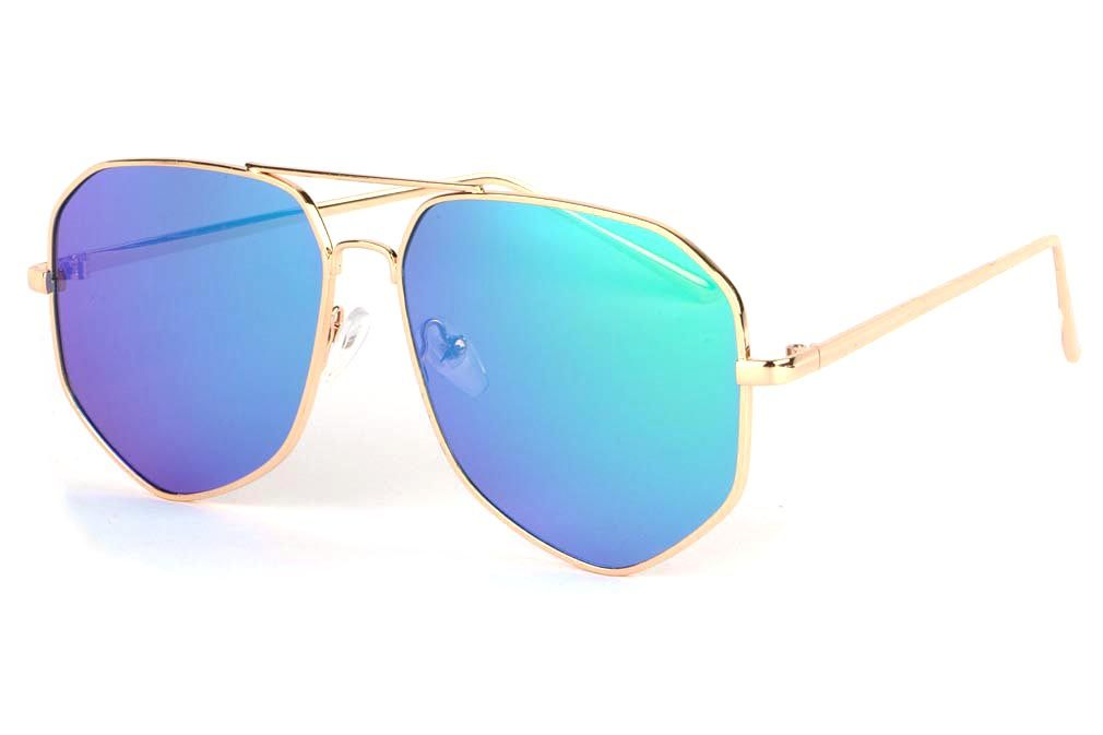 Lunettes soleil miroir bleu référence Garyo
