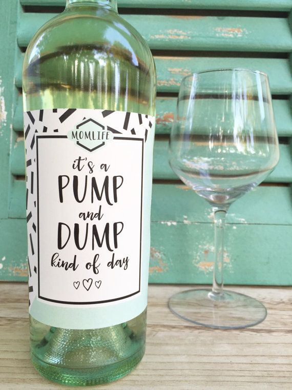 New Mom Wine Labels Mommy Milestone Gift for New Mom Baby ...