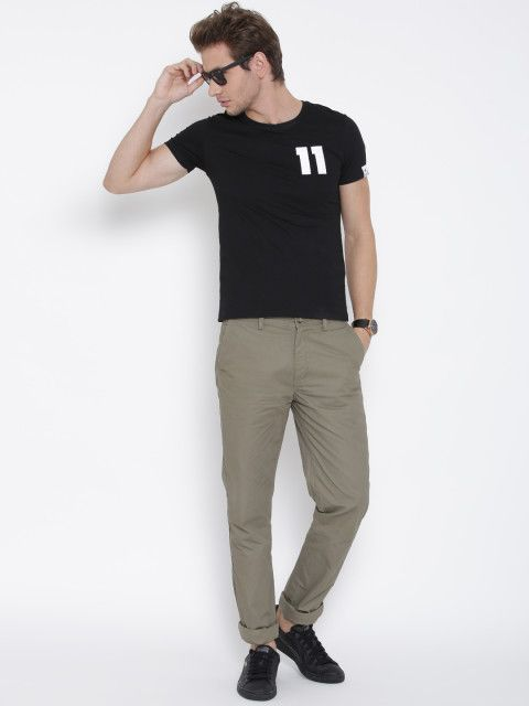 Buy U S Polo Assn Men Olive Green Slim Fit Trousers Trousers For Men Myntra Slim Fit Trousers Slim Fit Polo Assn