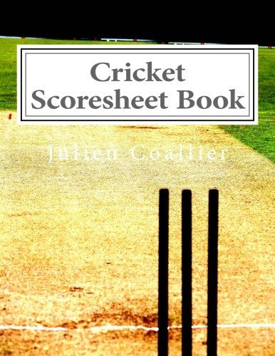 Book Cricket Scoresheet Book  Pages  Cricket
