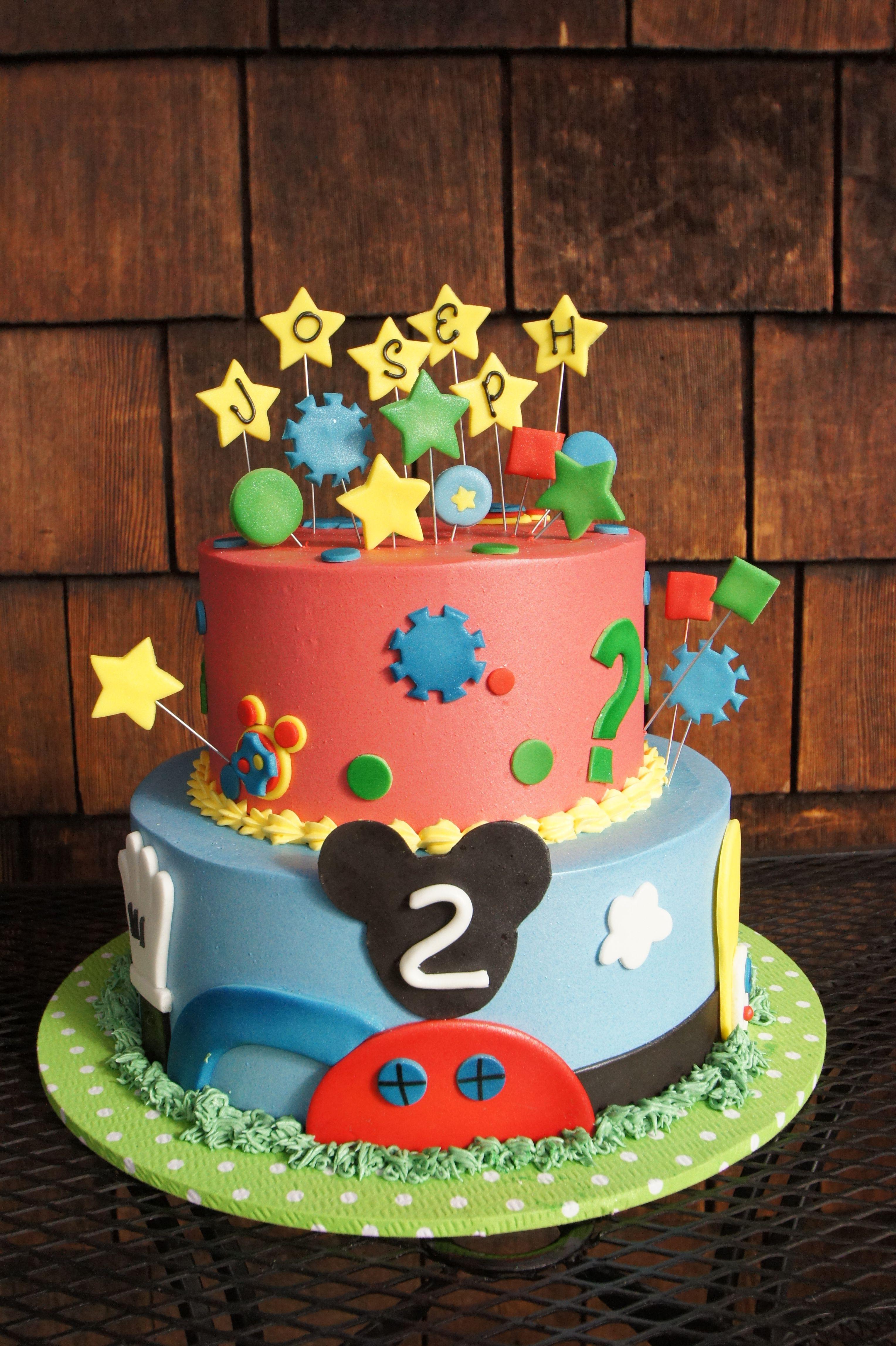 Colorful Disney Imagineer themed birthday cake
