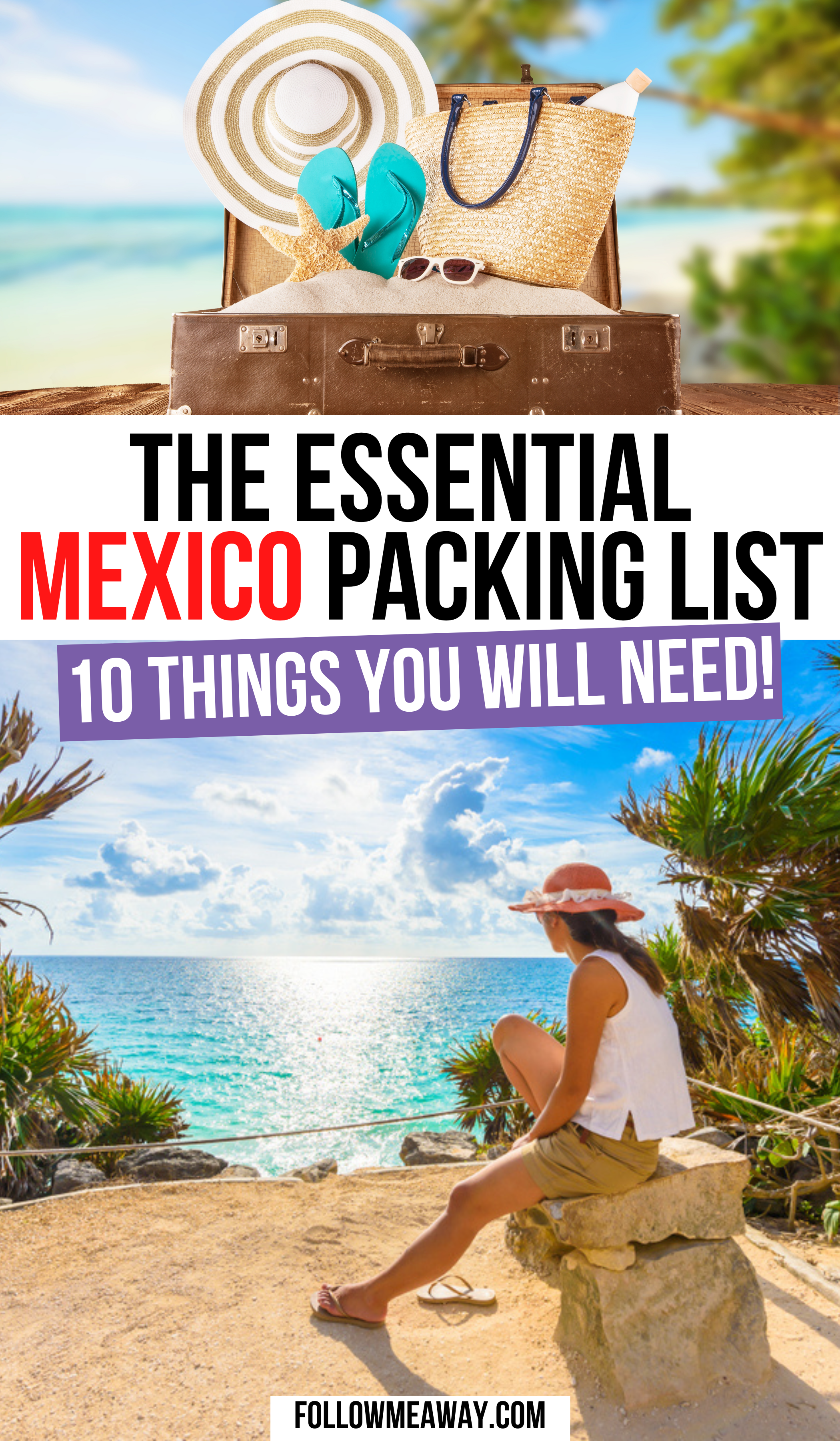 Mexico Packing List: 10 Things You Are FORGETTING To Bring | Mexico packing list | mexico packing list riviera Maya | mexico packing list cancun | mexico packing list Puerto vallarta | traveling to mexico packing lists | trip to mexico packing lists | all inclusive mexico packing list | what to take to mexico packing lists | what to bring to mexico packing lists | vacation outfits mexico packing lists | #mexicotravel #mexicopackinglist