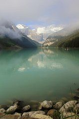 Featured Art - Morning Lake Louise 1 by Mo Barton