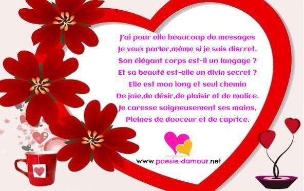Pour Elle Poesie D Amour Message Amour Et Poeme Romantique