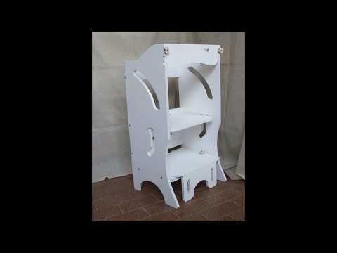Camerette montessori ~ Video torre dell apprendimento montessori torre piccola in legno
