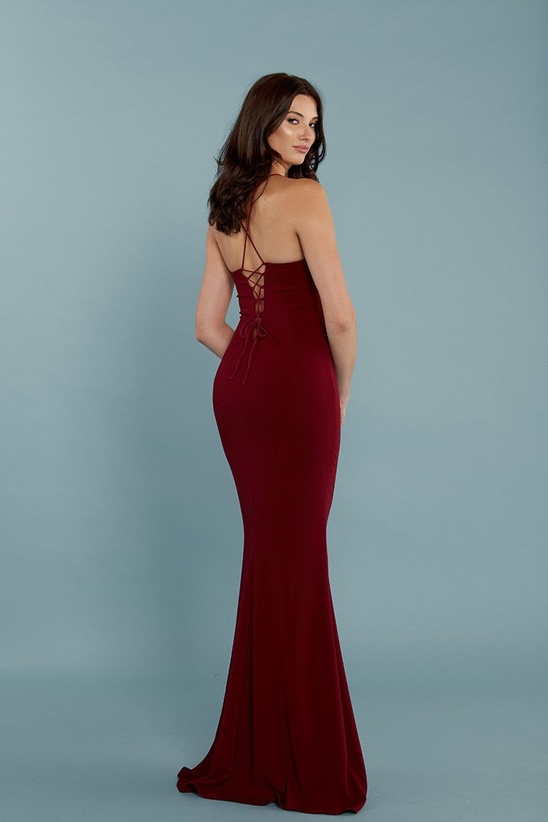 Titan Gown in Wine. - size 2 (also in 10,4,6,8) Katie May