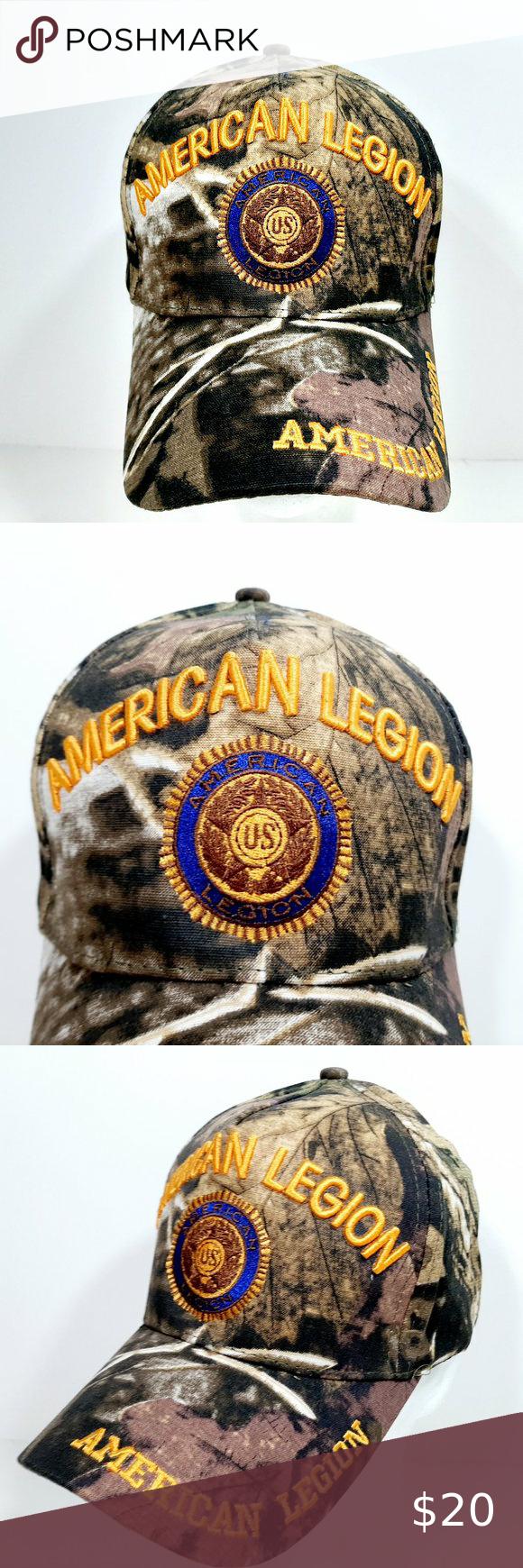 American Legion Mens Camouflage Hat Cap Embroidere Camouflage Hat Camouflage American Legions
