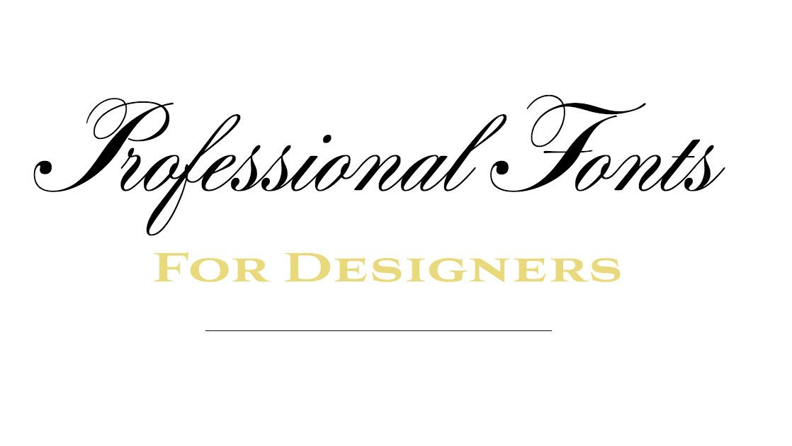 12 professional fonts for designers Professional fonts, Fonts and