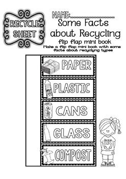 Recycling Readings and Printables 2nd5th Grade Earth day