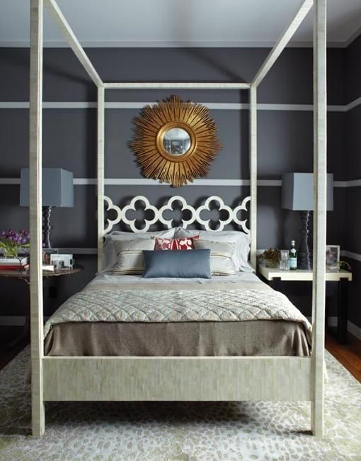 home decorating with quatrefoil designs Schlafzimmerbedroom