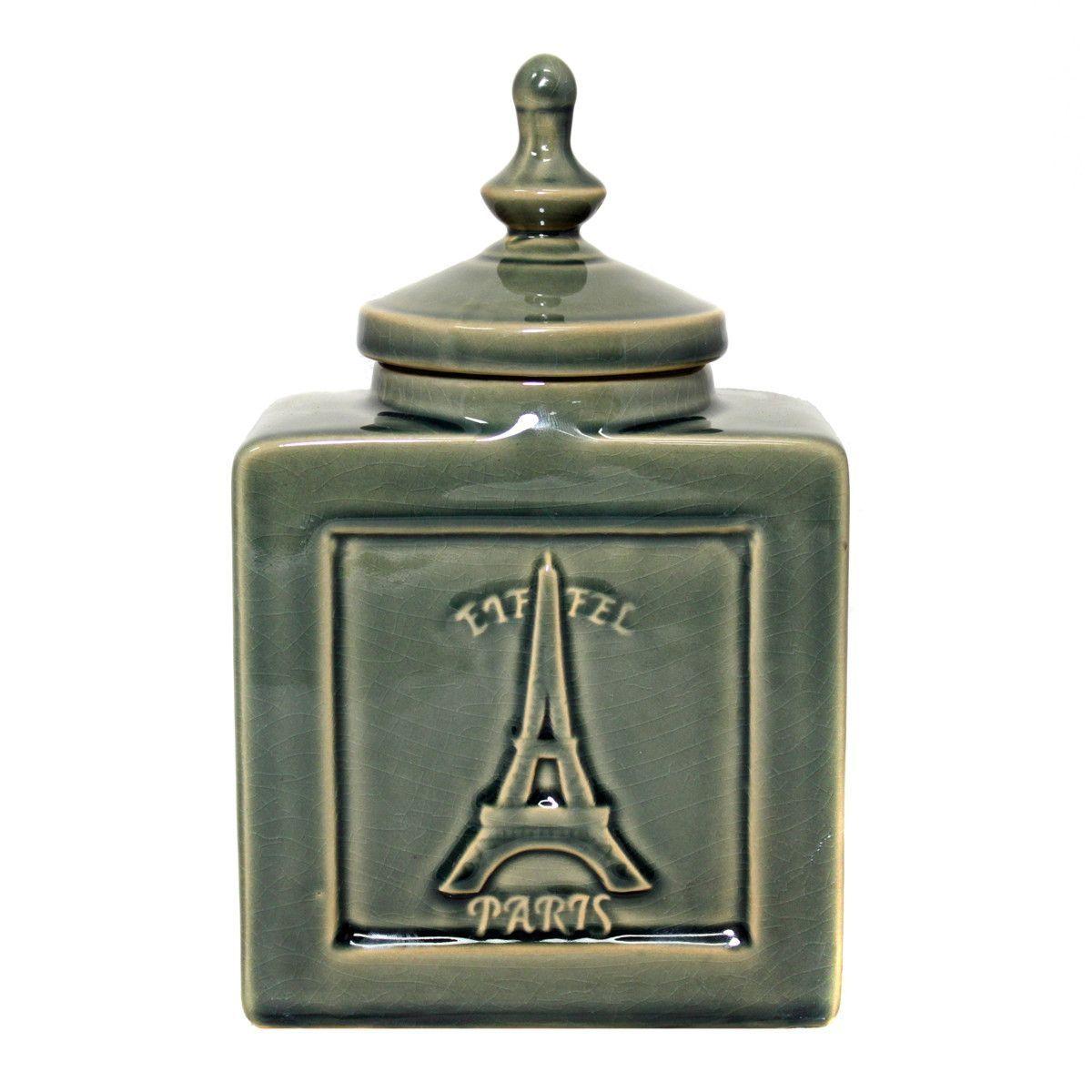 Urban Eiffel Paris Decorative Ceramic Jar