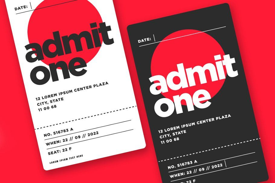 Event Ticket Admit Card Design Card Design Card Template Event Entry