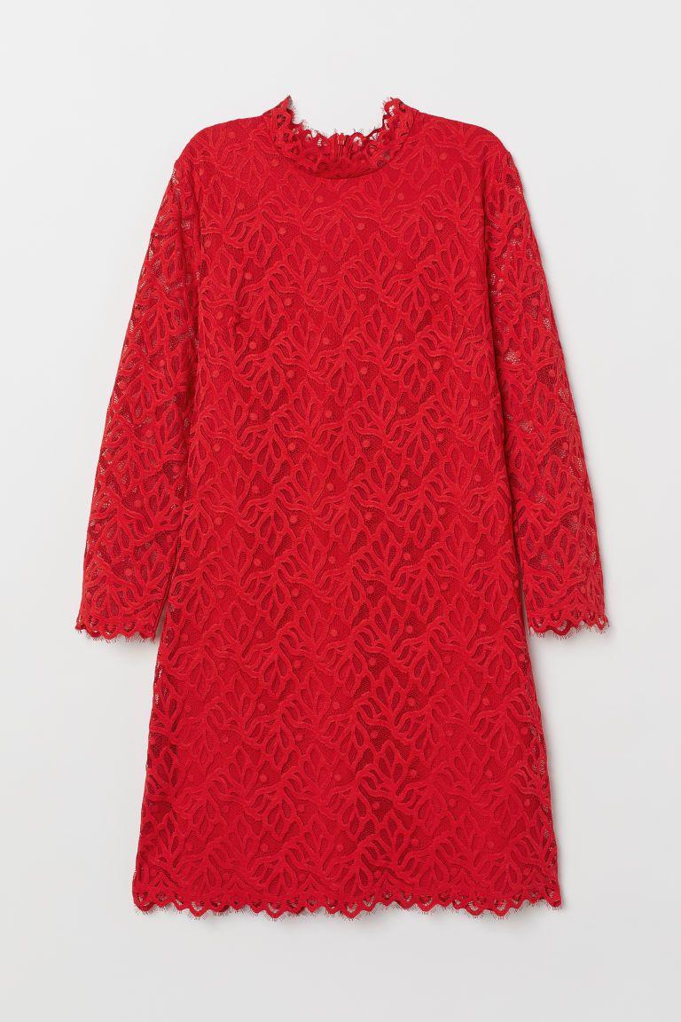 Lace Dress Red Ladies H M Us Red Lace Dress Clothes Lace Dress