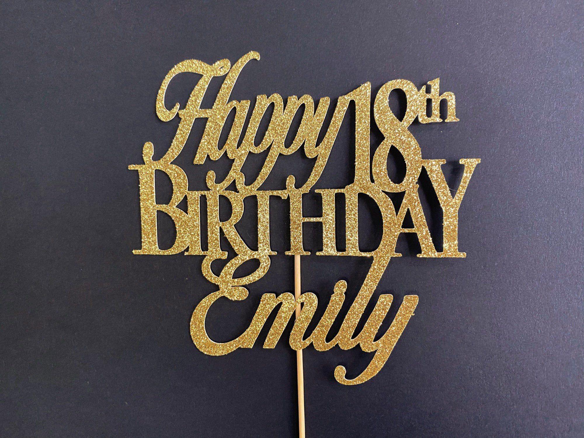 Any Number Custom Birthday Cake Topper 18th Cake Topper