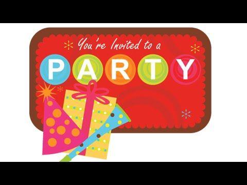 Party Invitation Vector design - Coreldraw tutorials - YouTube