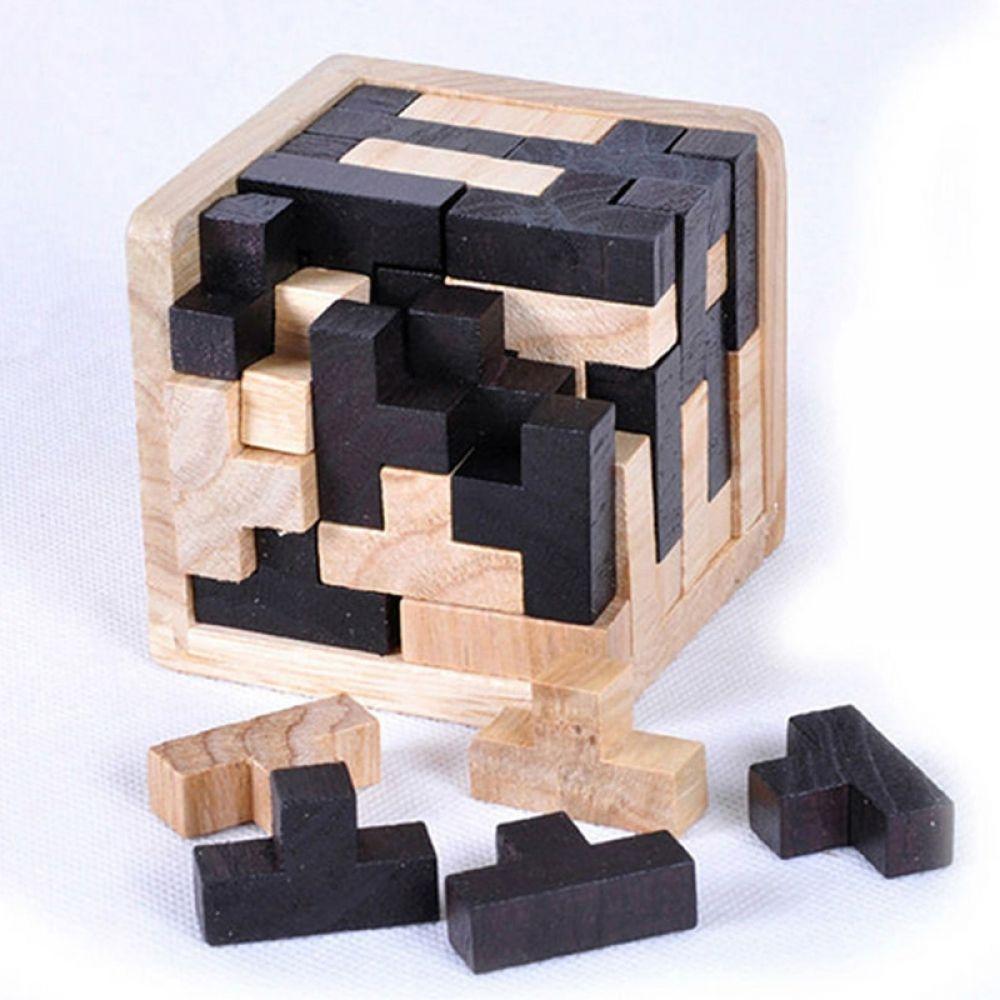 Brain Teaser Puzzle 3D Childrens Adult IQ Test Puzzles for Unlock Interlock Puzzle Wooden Toys