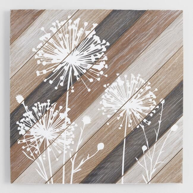 Dandelions on wood wall art world market
