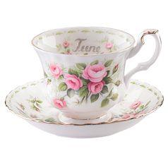 Royal Albert Flower of the Month June Teacup & Saucer