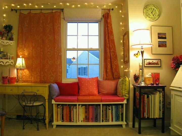 Again, cozy reading area/bookshelf.