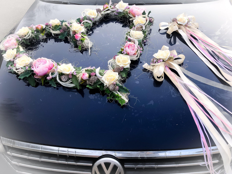 Autoschmuck Set 3 Teilig Herz Und Schleifen Autodekoration Etsy Autoschmuck Hochzeit Auto Dekoration Autodeko Hochzeit