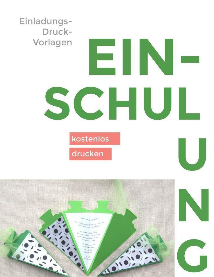 Photo of Einschulungskarte Schultüte Fußball ⋆ Kindergeburtstag-Planen.de
