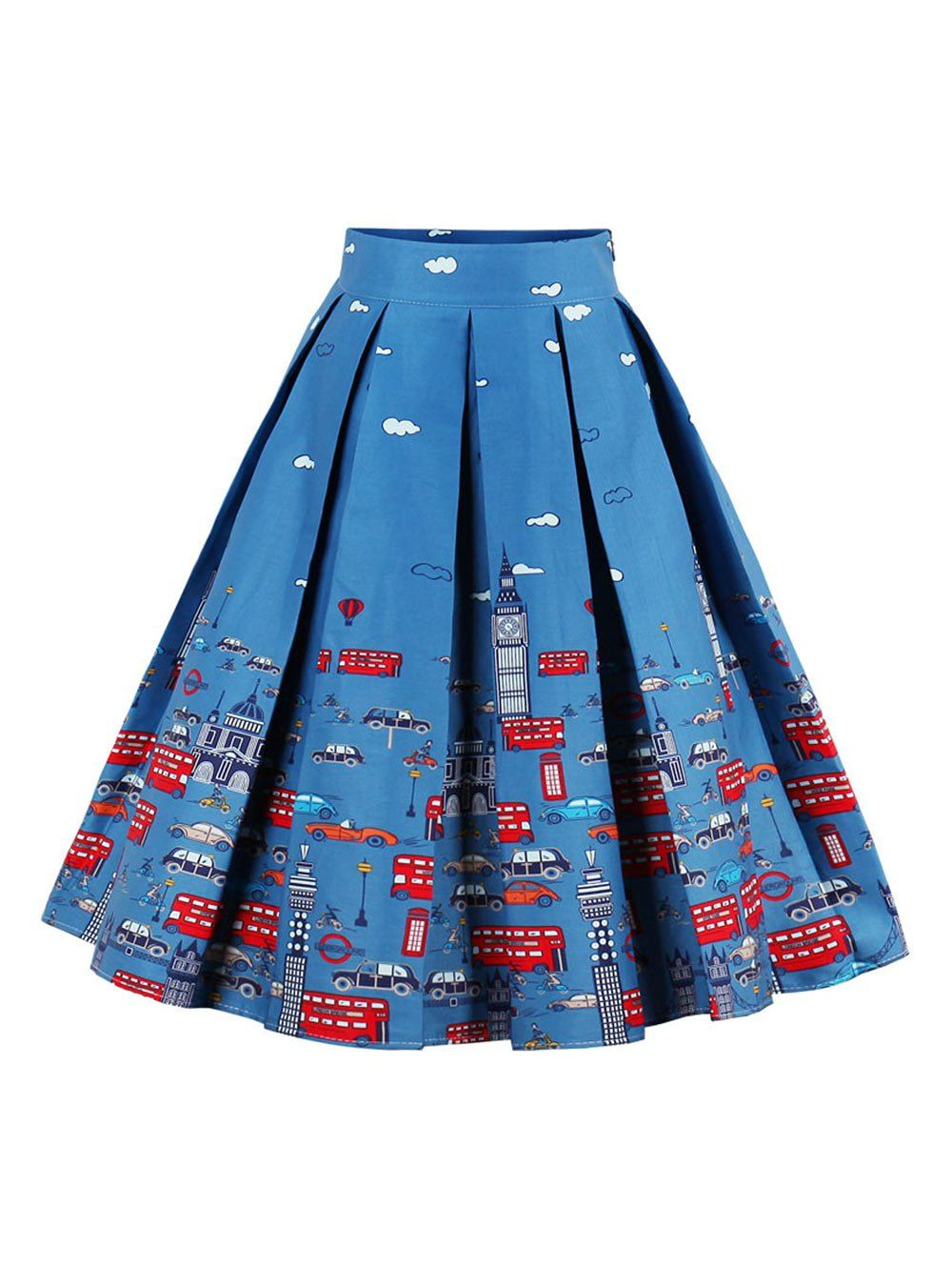 1f2de6e99fae rosegal Blue Skirts