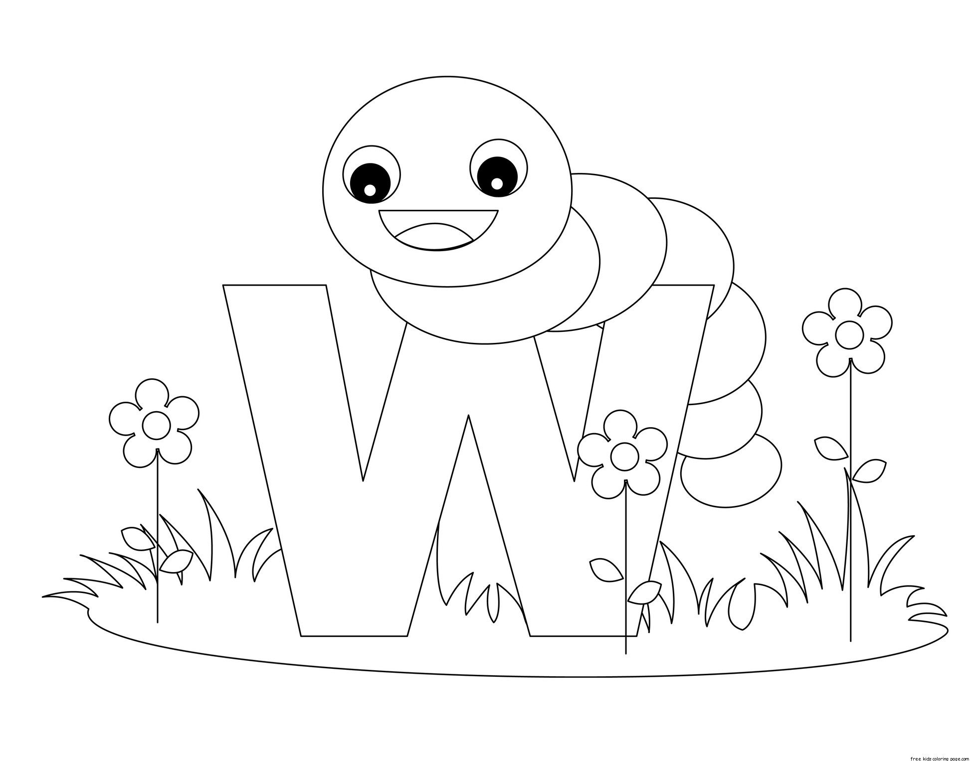 Printable-Animal-Alphabet-Letter-W-is-for-Worm.jpeg (1963×1527 ...