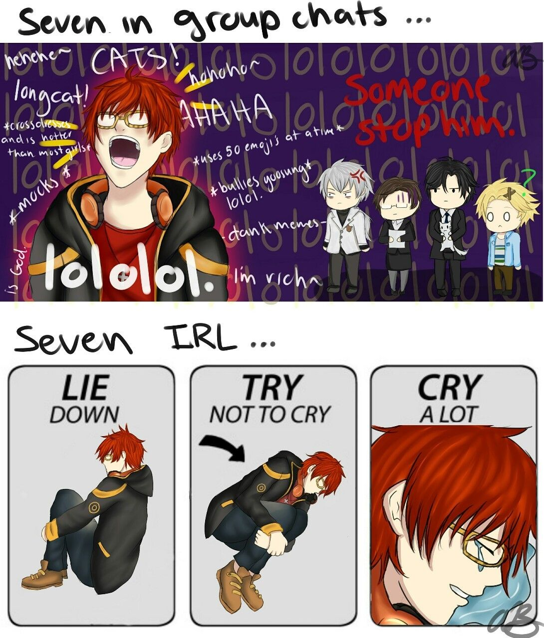 Because Mystic Messenger is taking over my life, I made