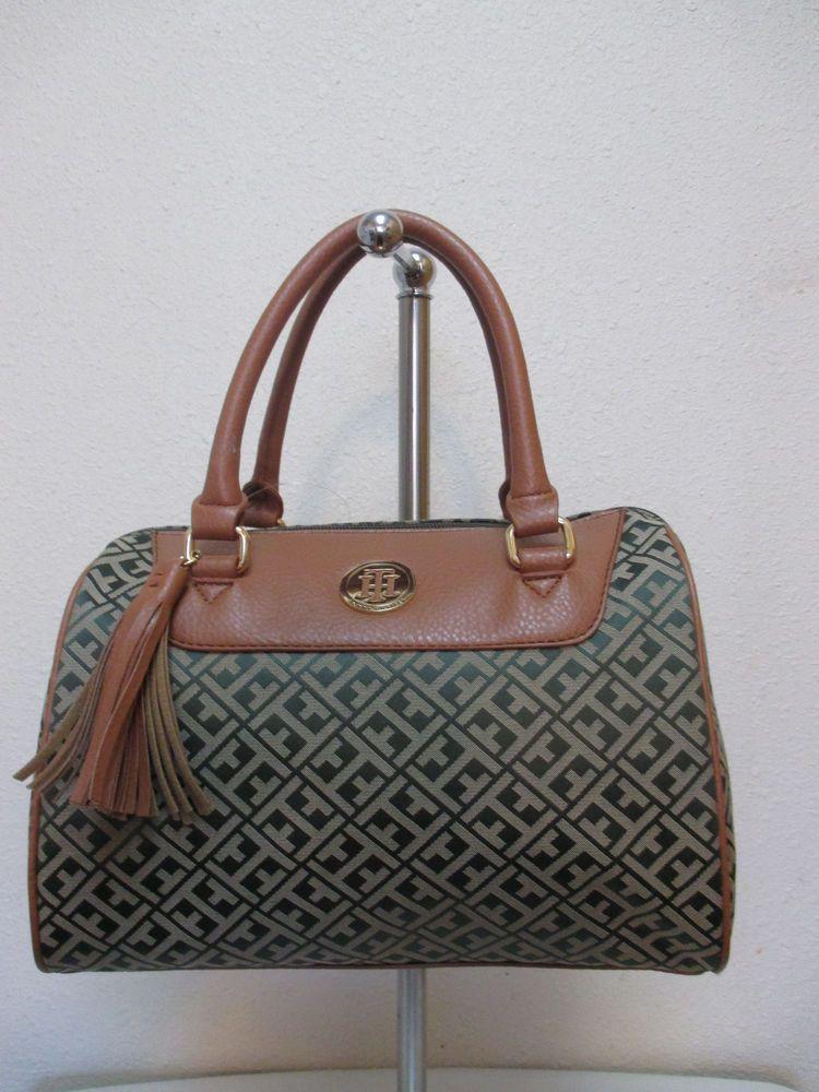 8630b2f569 Bag Tommy Hilfiger Handbags Satchel 6929415 310 Olive Green Beige ...
