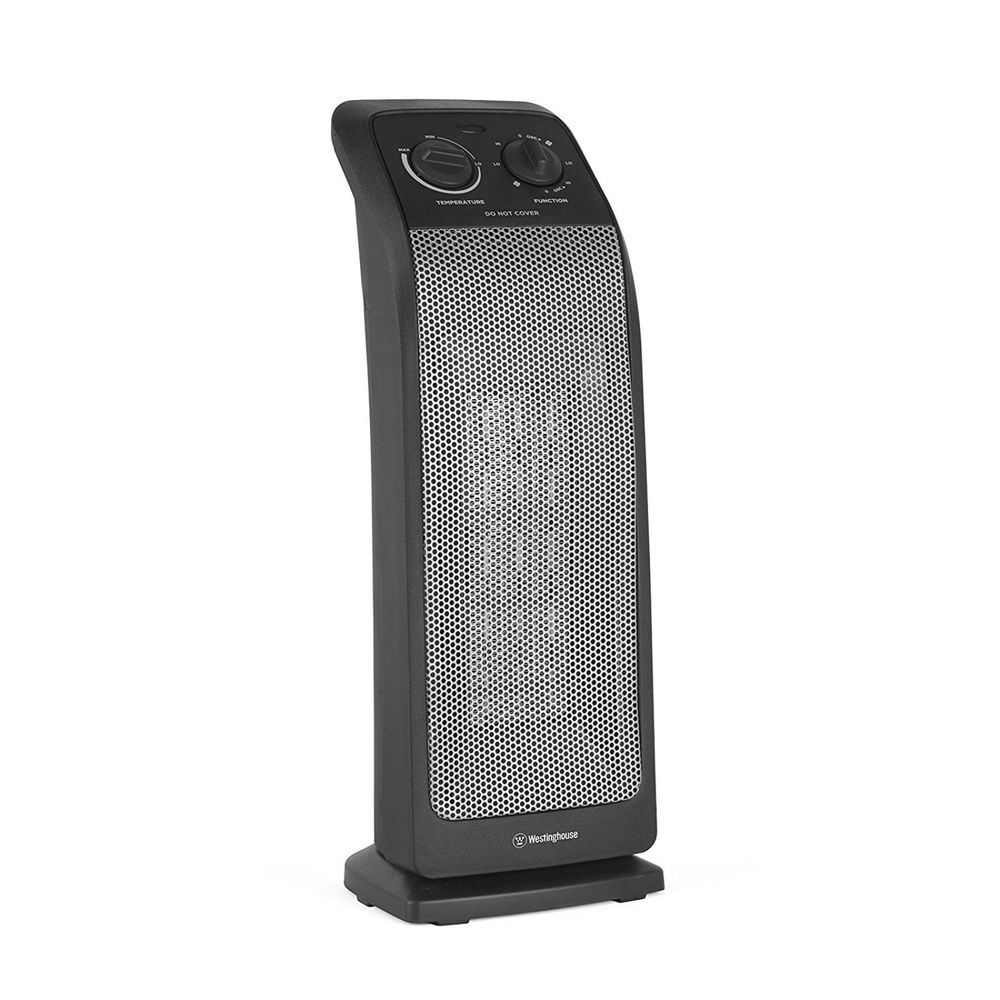 Ceramic Tower Heater 19 3 Settings High Low Fan Only
