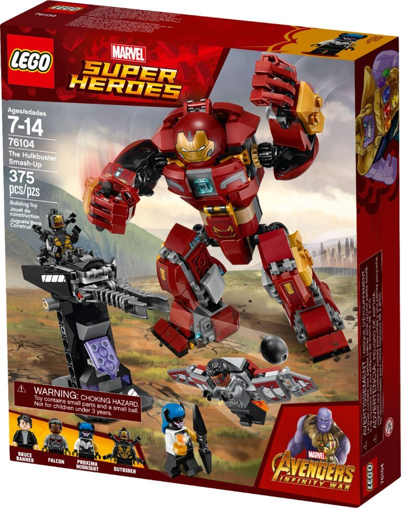 LEGO Marvel Super Heroes Hulk Smash Building Kit Avengers Infinity War Kids Toys