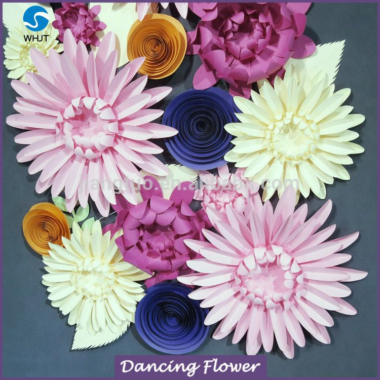 Handmade colorful craft giant paper flower for wall decoration wdag handmade colorful craft giant paper flower for wall decoration wdag 104 mightylinksfo