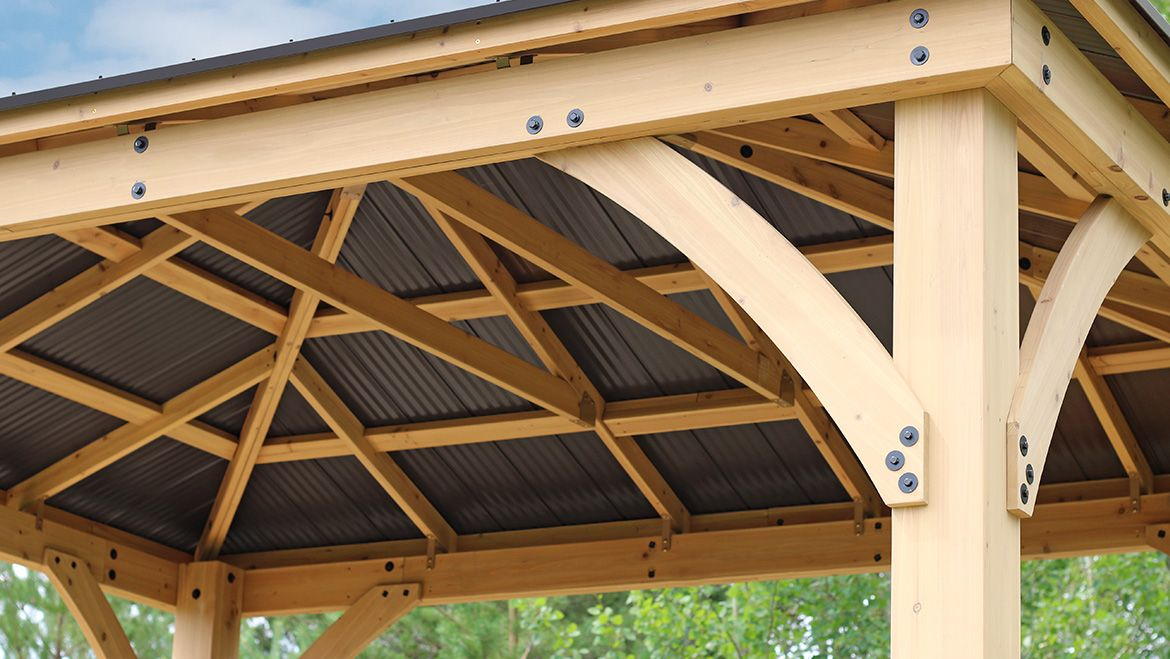 Yardistry Structures In 2020 Gazebo Aluminum Roof Pergola