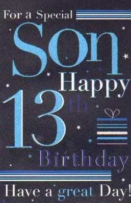son 13th birthday card good quality card birthday card httpwww