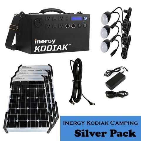 Inergy Apex Solar Generator Silver Portable Camping Pack
