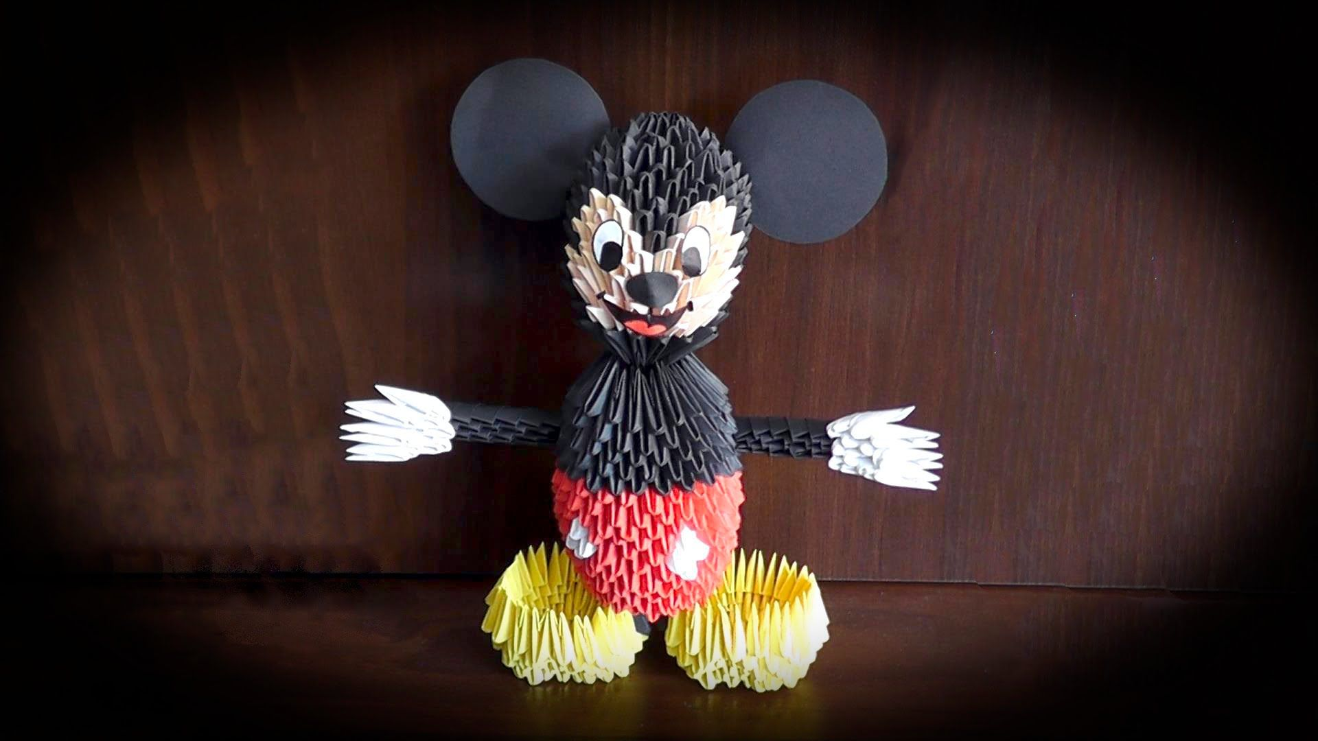 3d Origami Mickey Mouse Tutorial Pinterest To Fold From The Paper Diagram Of Themouse