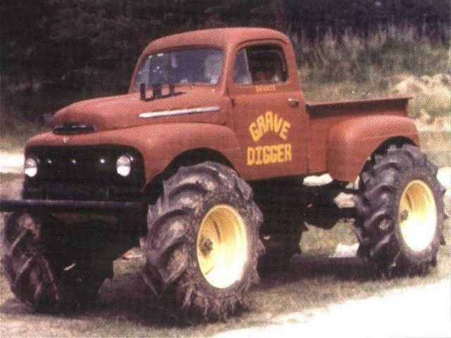 First Grave Digger 1952 Ford F100 Monster Trucks Trucks Ford