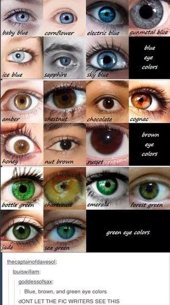 Pin By Katie Kerosene On Art Eye Color Chart Blue Eye Color Writing Tips