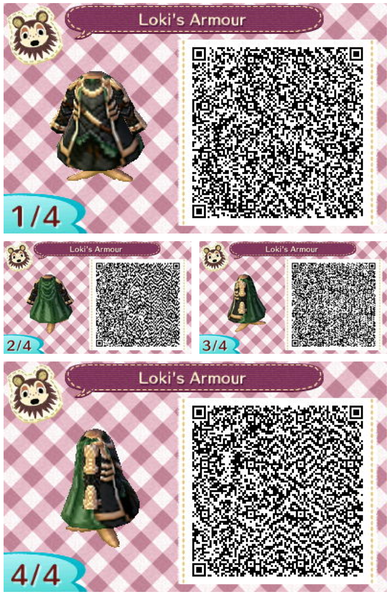 Leather jacket qr code new leaf - Loki S Armor Animalcrossing Qrcode Looks Really Cool With The Gas Mask Black