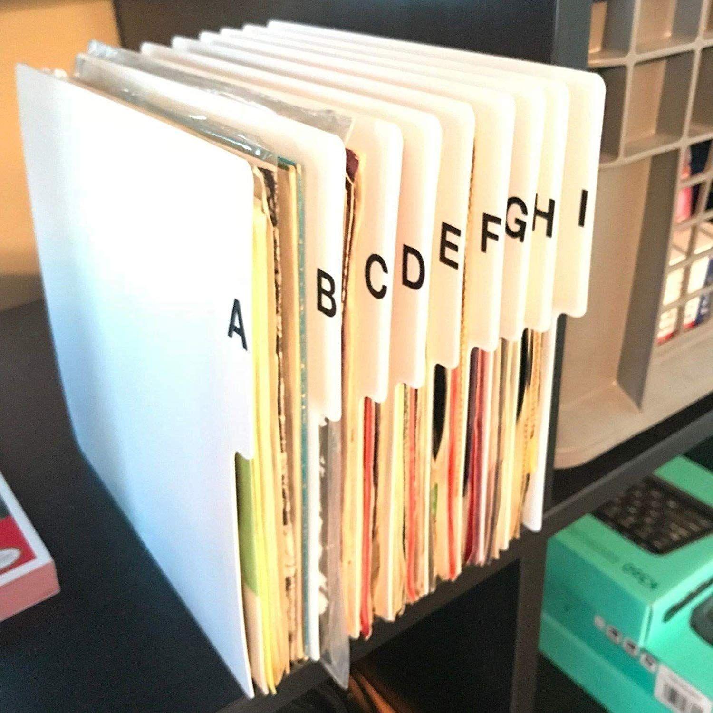 Az vertical 7inch 45 rpm 45s vinyl record index dividers