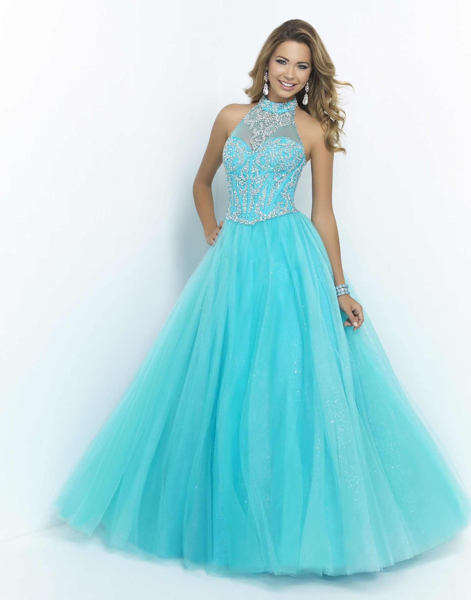 BLUSH PINK 5401 TURQUOISE BALL GOWN | prom dresses | Pinterest ...