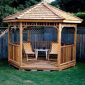 Hexagon Cedar Gazebo Kit 8ft Modern Gazebo Backyard Gazebo
