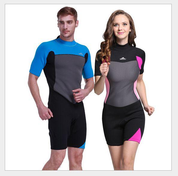 SBART Neoprene 2mm Wetsuit Scuba Diving Suit One-Piece Swimwear Swimming  Wet Suit Dive Rashguard Men Women Snorkeling Rash Guard db431192b