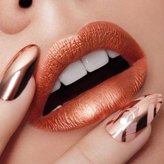 Morphe rose gold lipstick
