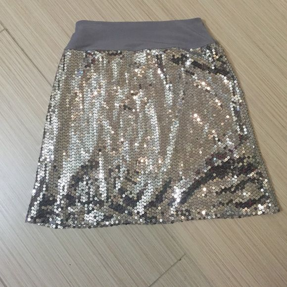 Silver Sequin skirt Silver sequin skirt by Blink Wear. Child's size 16. Blink Skirts