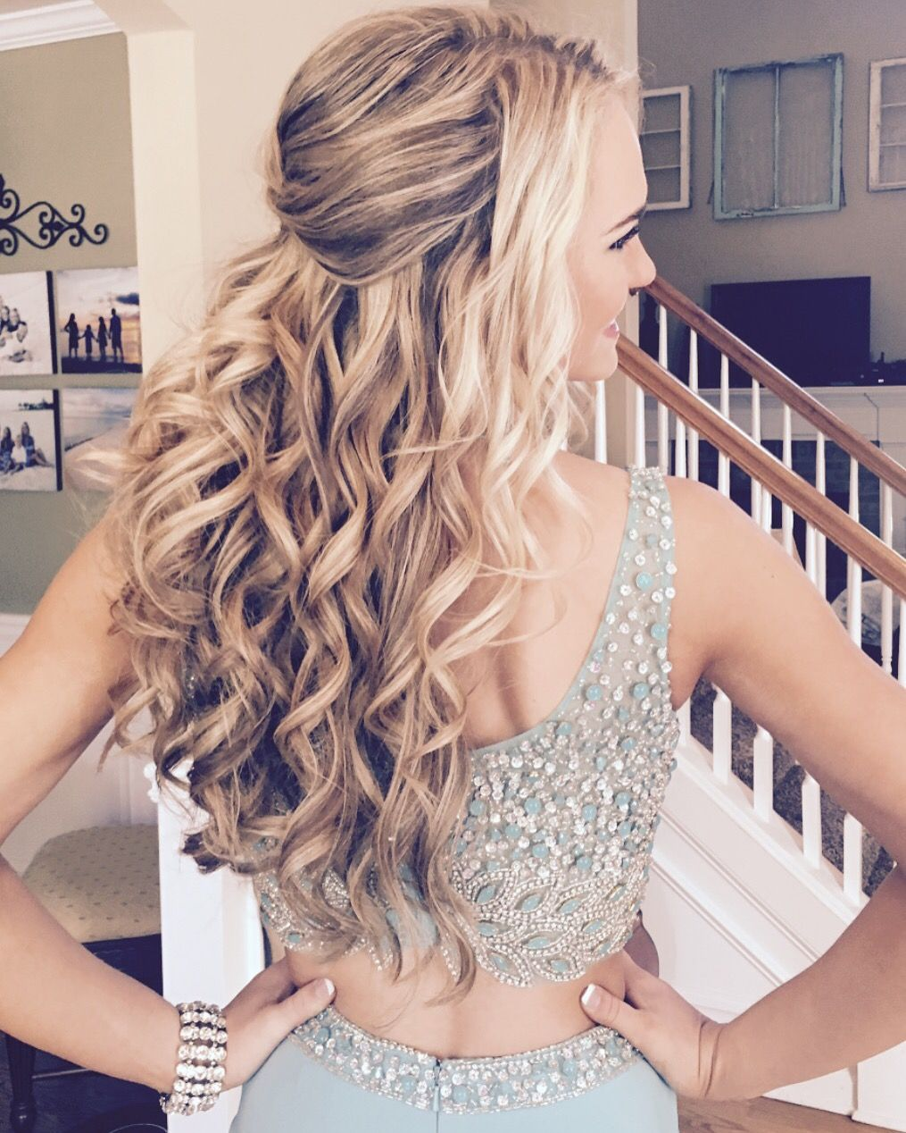 Perfect down do formal hair style by formalfaces nails