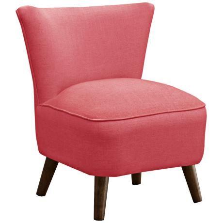 Annabelle Mid-Century Modern Fuchsia Pink Linen Chair - #X5773 ...