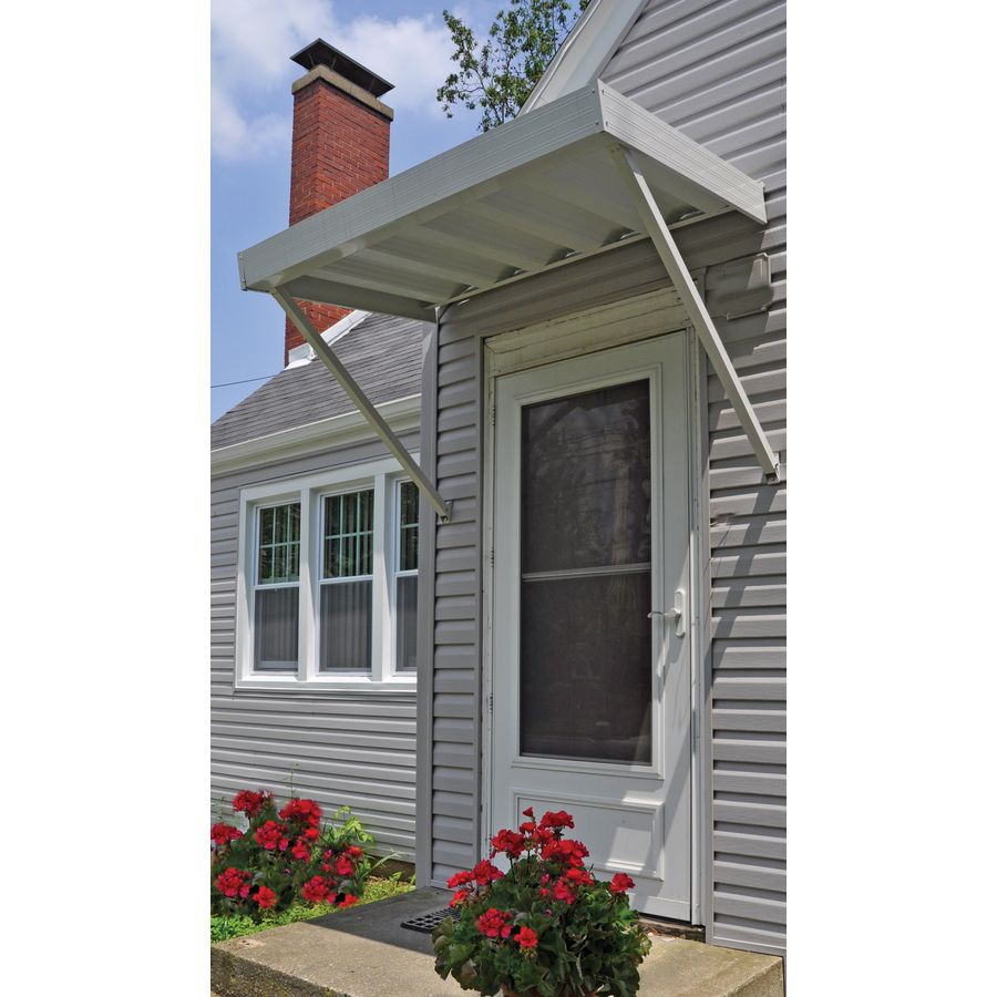Shop Americana Building Products 50-in Wide x 40-in Projection White Solid Open · Front Door AwningFront ...  sc 1 st  Pinterest & Shop Americana Building Products 50-in Wide x 40-in Projection ...