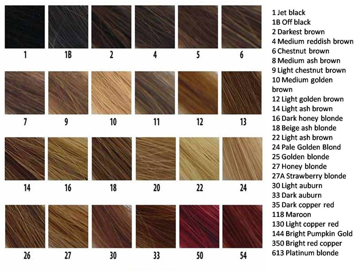 Hair Swatches Hair Color Number Chart Brown Hair Color Chart