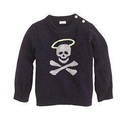 {Collection cashmere baby sweater in halo-skull}